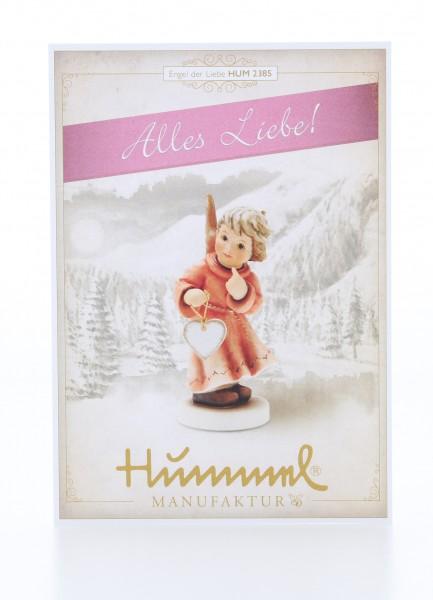 Postkarte Jahresengel 2018 Engel der Liebe - Alles Liebe!