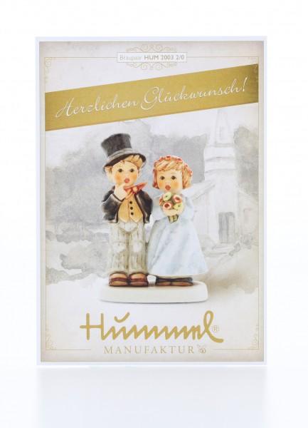 Postkarte Brautpaar - Herzlichen Glückwunsch!