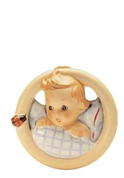 Wandbild Kind im Bett