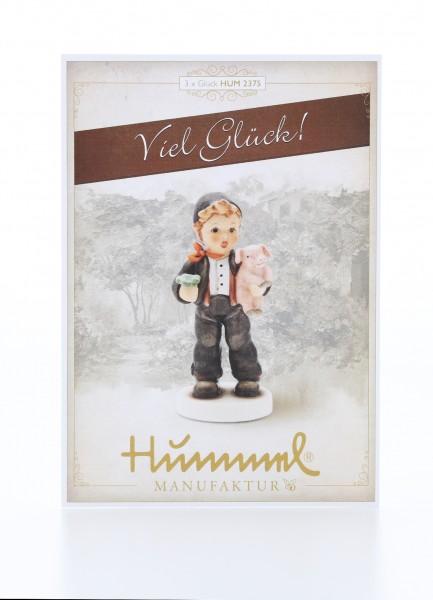 Postkarte Gefundenes 3x Glück - Viel Glück!